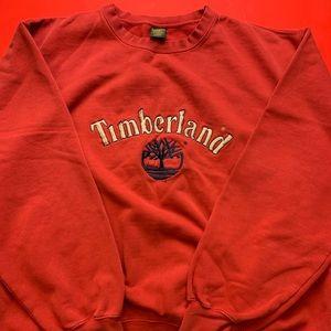 Red Timberland Crewneck Sweater